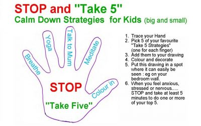 """STOP and """"Take 5"""" (Stress Management Activity for kids)"""